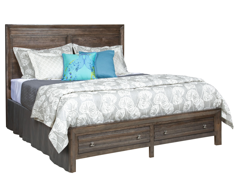 Kincaid Furniture MontreatKing Borderu0027s Panel Storage Bed