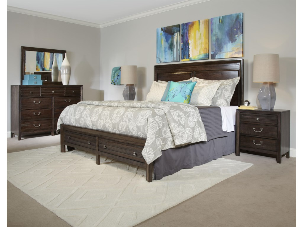 Kincaid Furniture MontreatQueen Border's Panel Storage Bed
