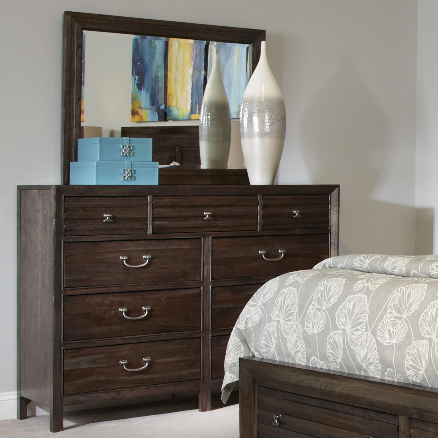 Kincaid Furniture Montreat Contemporary Black Rock Bureau And Landscape  Mirror Set