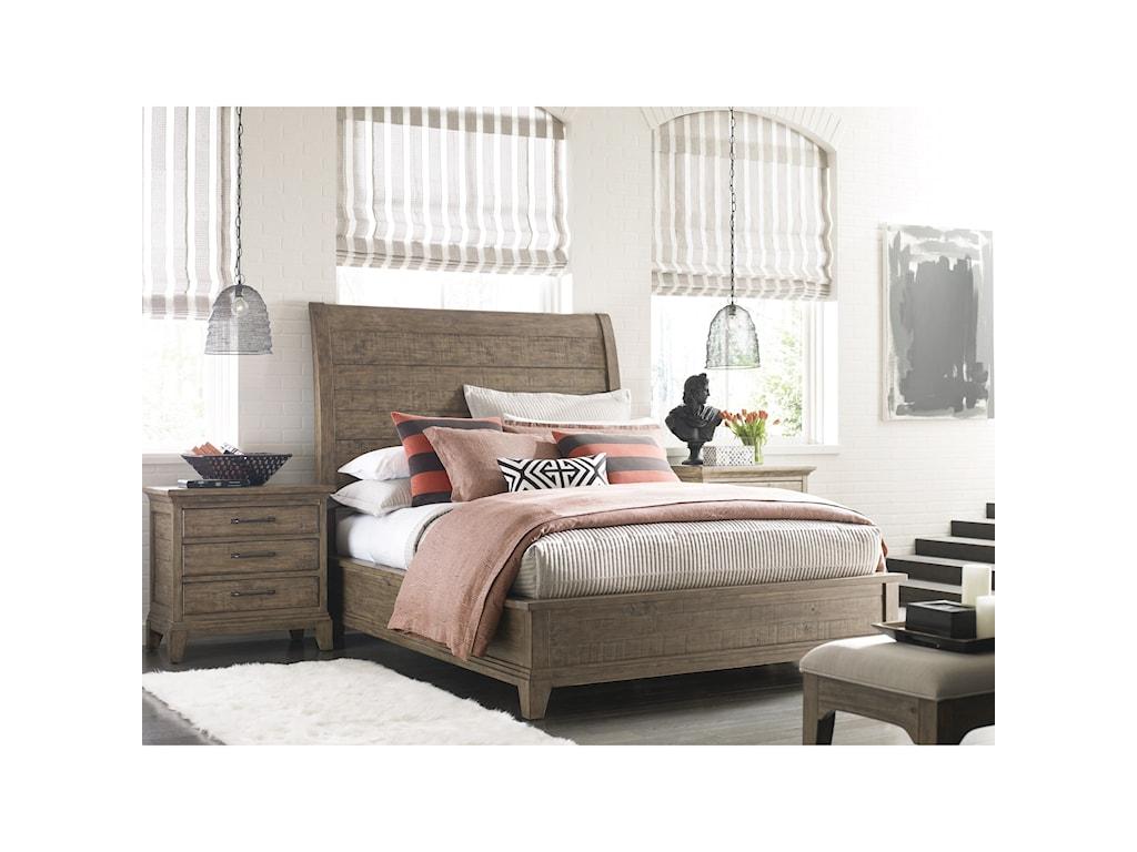 Kincaid Furniture Plank RoadEastburn Sleigh Queen Bed
