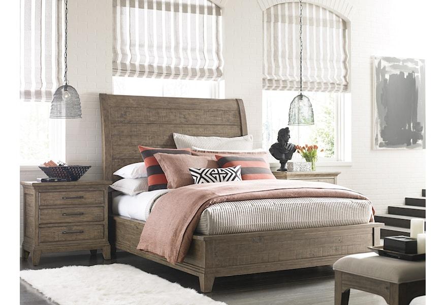 Kincaid Furniture Plank Road Eastburn Solid Wood King Sleigh Bed Belfort Furniture Sleigh Beds