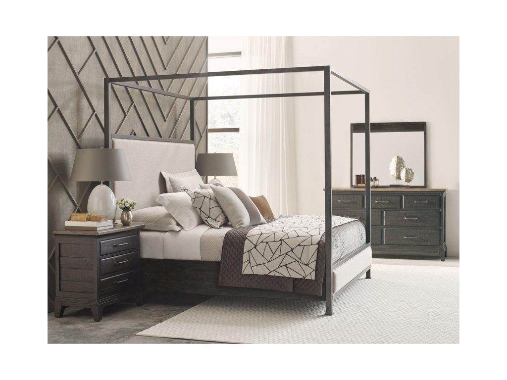 Kincaid Furniture Plank RoadShelley Canopy Queen Bed