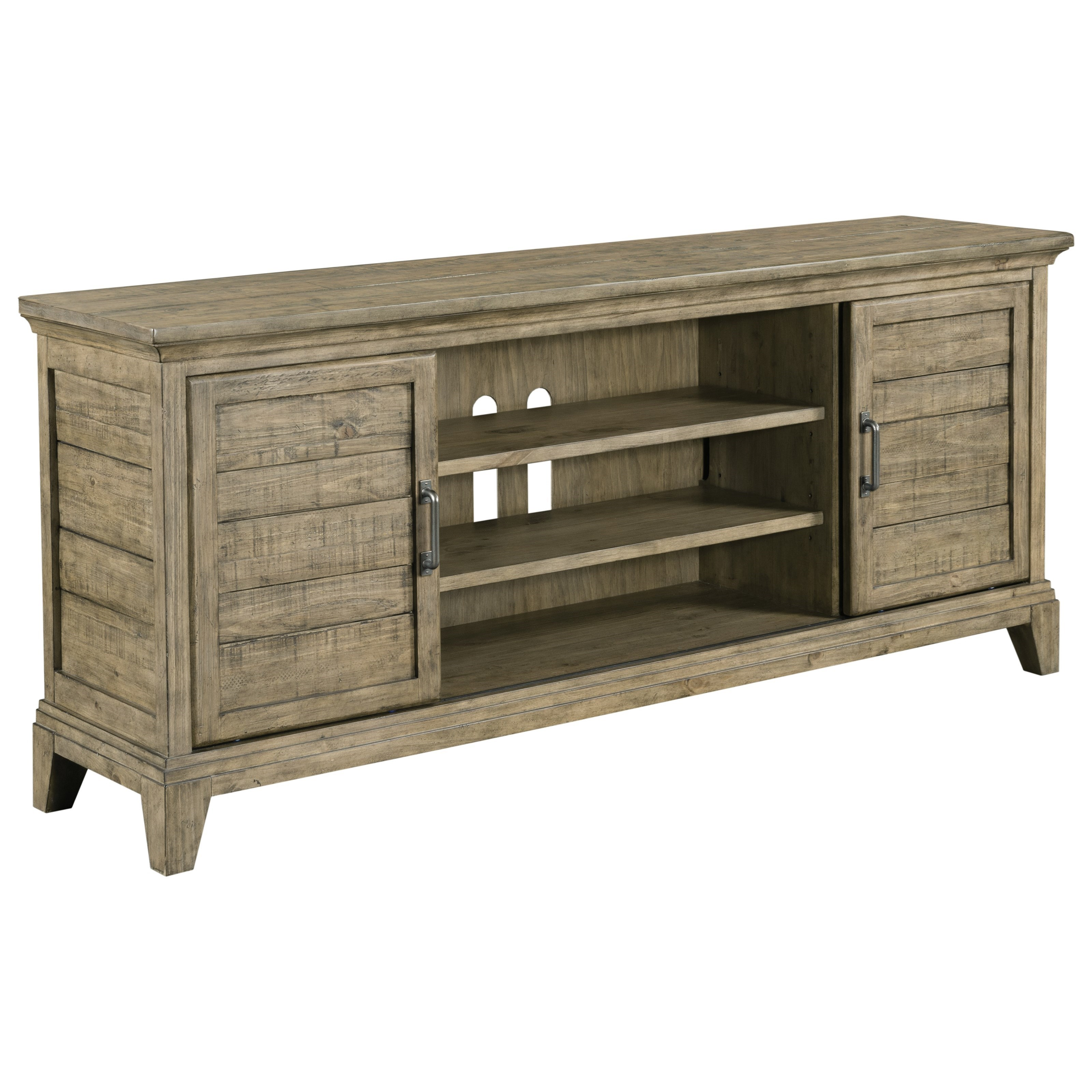 Kincaid Furniture Plank Road Arden Entertainment Console With Sliding Doors  And Built In Electrical Outlet   Becker Furniture World   TV Stands