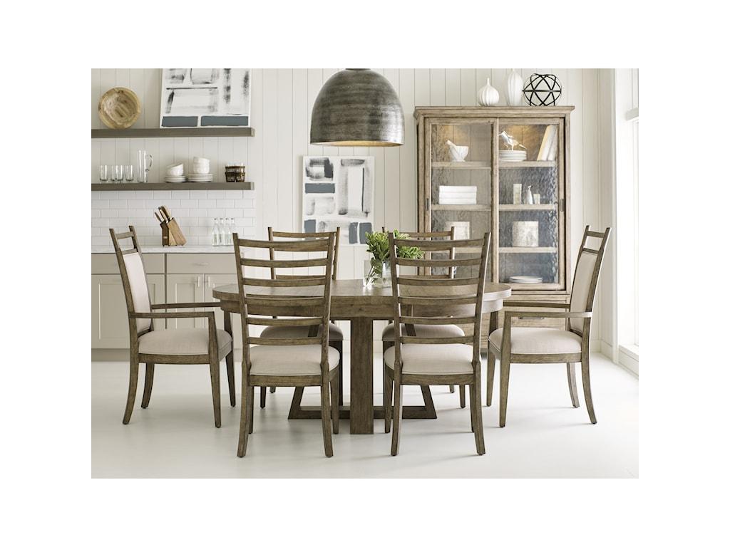 Kincaid Furniture Plank RoadButton Dining Table