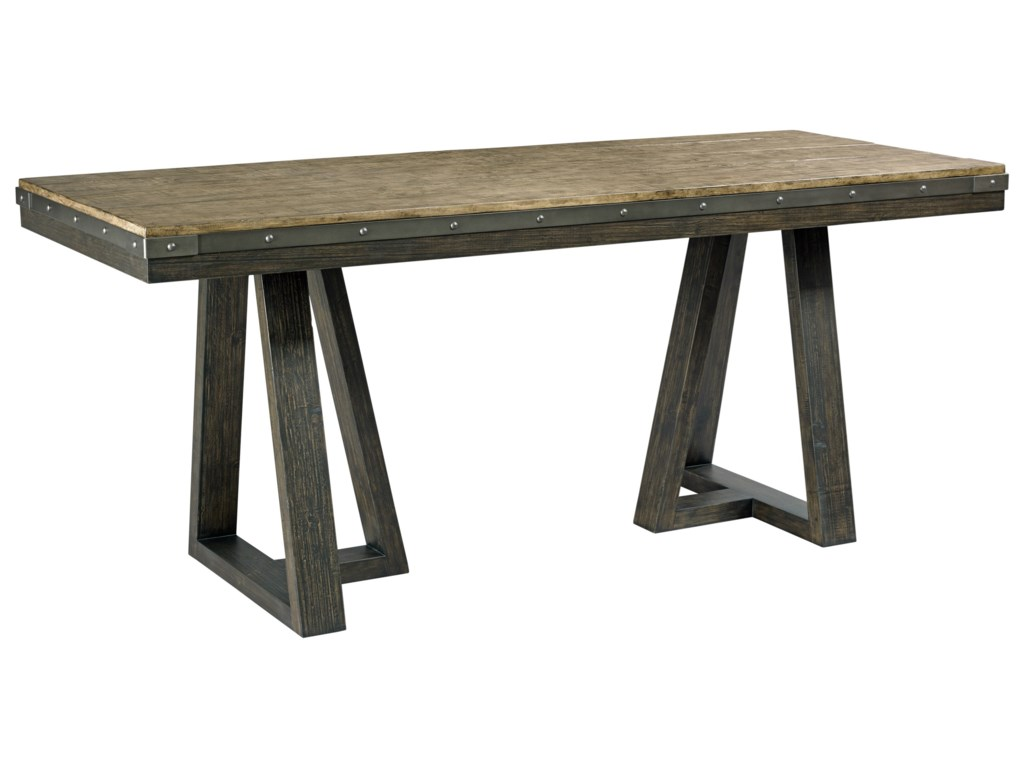 Kincaid Furniture Plank Road CP Kimler Solid Wood Counter - Long counter height dining table