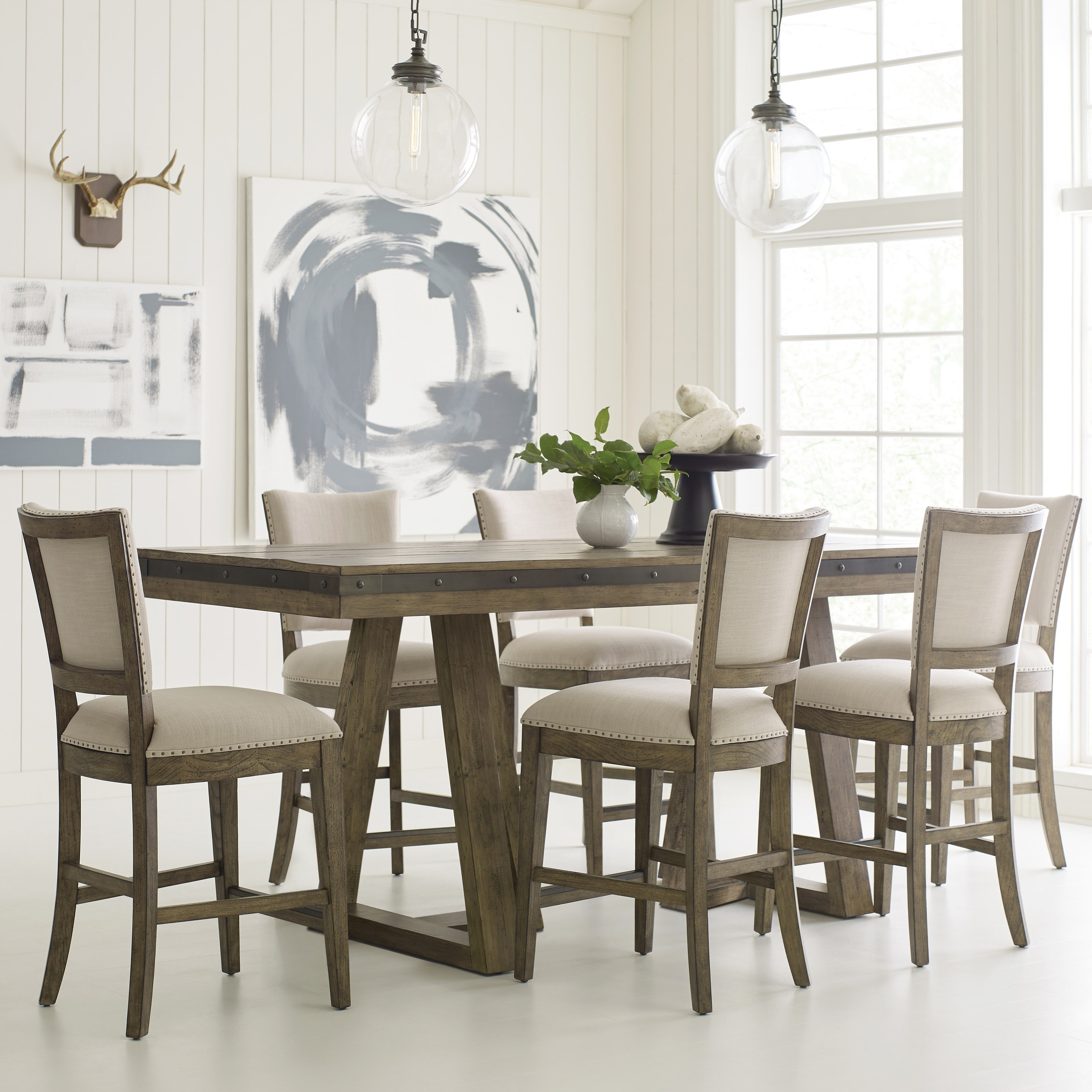 Kincaid Furniture Plank Road7 Pc Counter Height Dining Set
