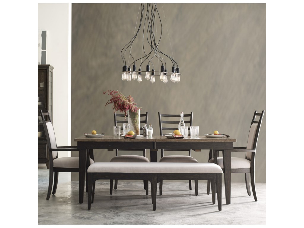 Kincaid Furniture Plank Road6 Pc Dining Set w/ Bench