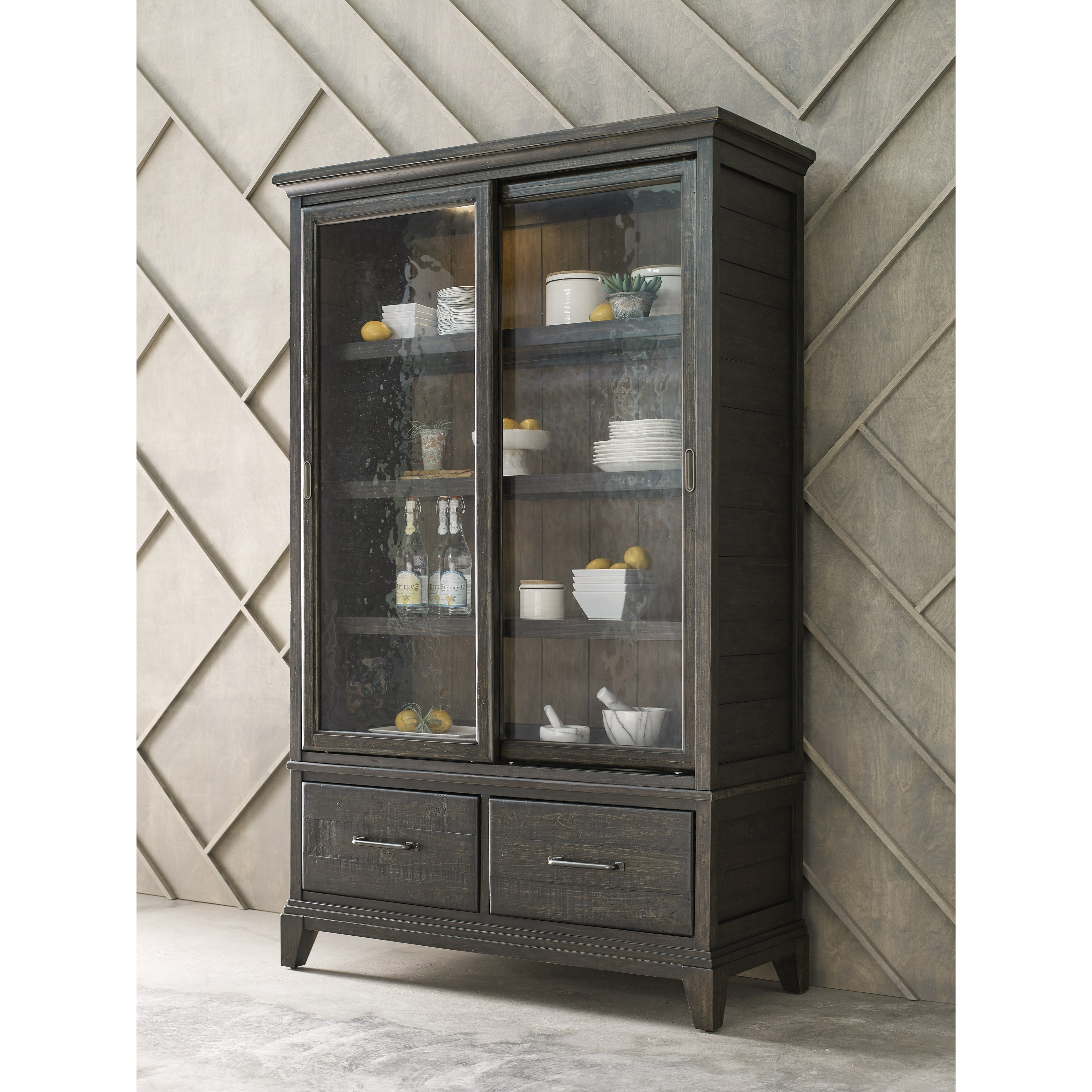 ... Kincaid Furniture Plank RoadDarby Display Cabinet ...