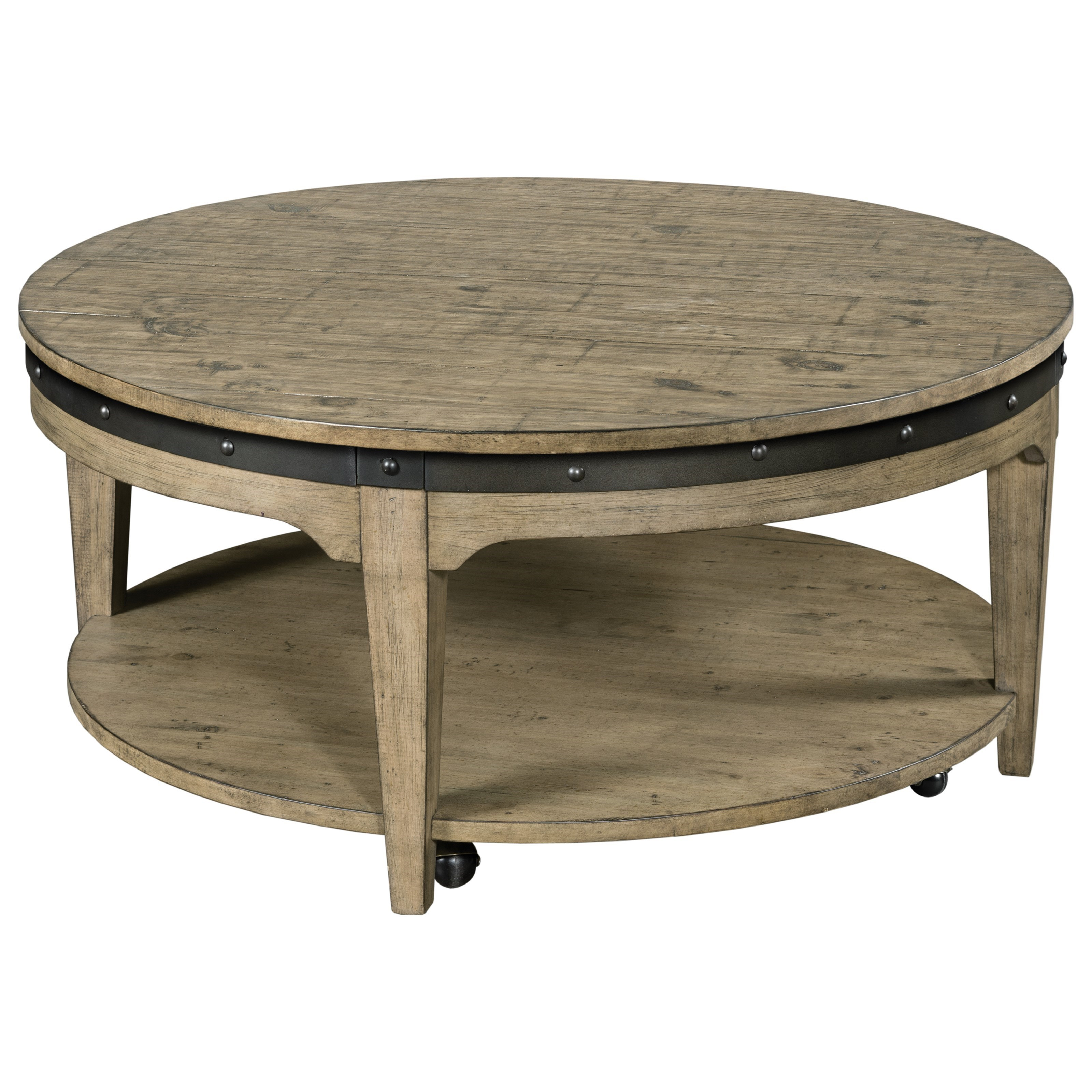 - Kincaid Furniture Plank Road Artisans Round Solid Wood Cocktail