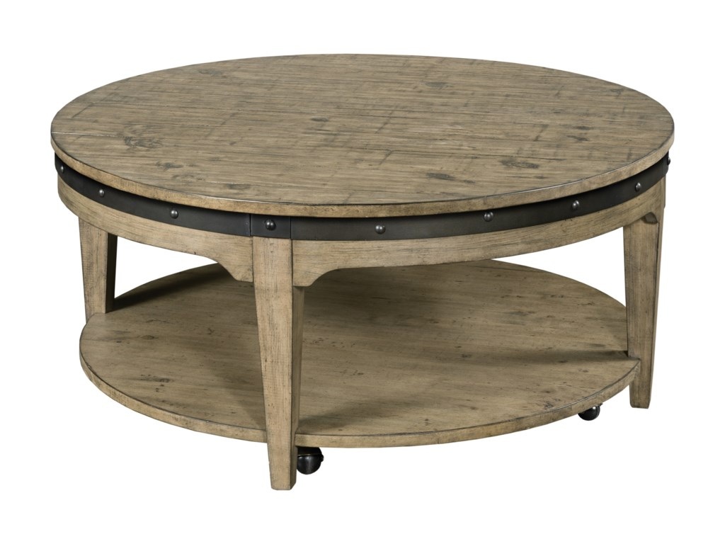 Round Wood Coffee Table.Plank Road Artisans Round Solid Wood Cocktail Table With Hidden Casters By Kincaid Furniture At Stoney Creek Furniture