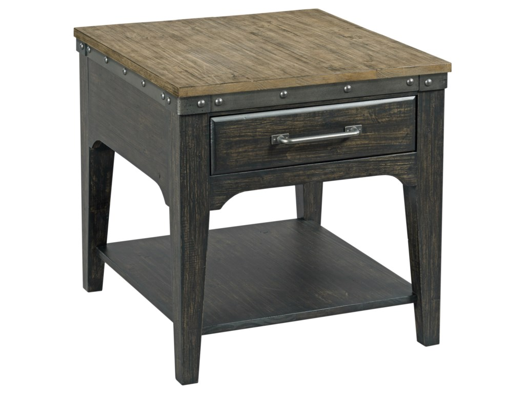 Kincaid Furniture Plank RoadArtisans Rectangular Drawer End Table
