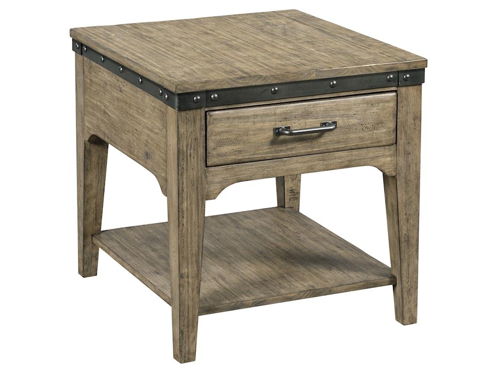 Kincaid Furniture Plank RoadArtisans Rectangular Drawer End Table