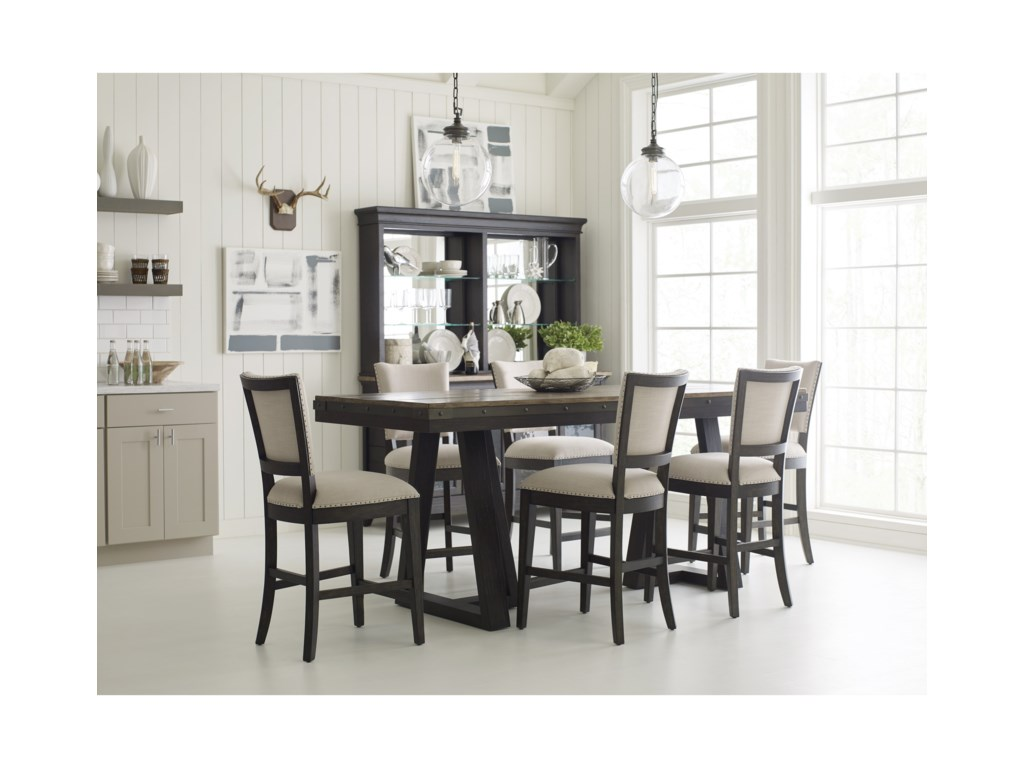 Kincaid Furniture Plank RoadFormal Counter Height Dining Room Set