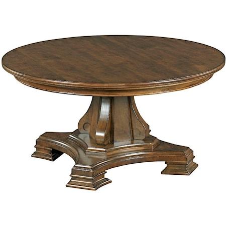 Round Pedestal Cocktail Table