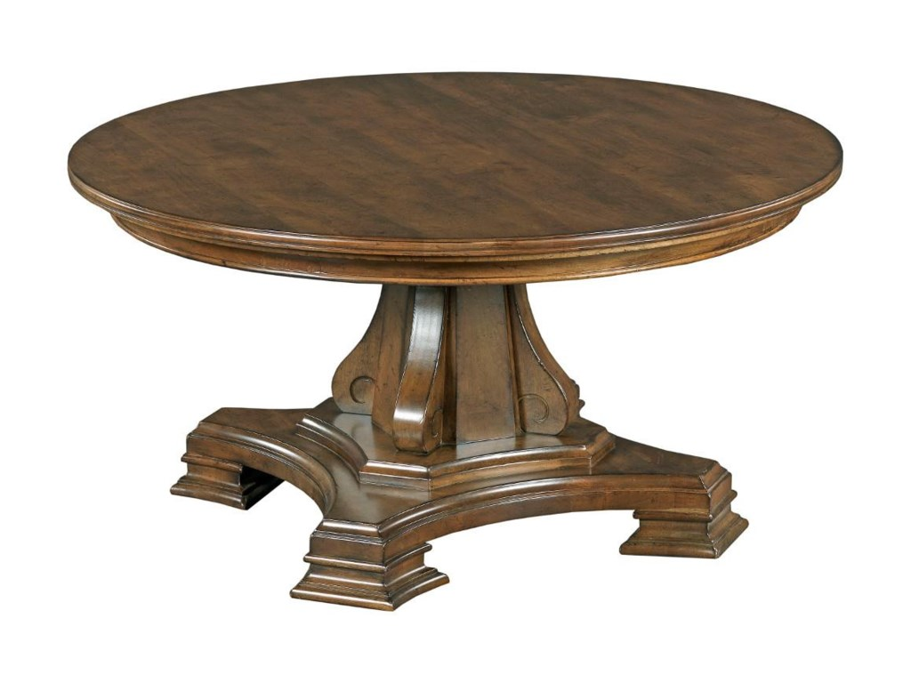 Kincaid Furniture PortoloneRound Pedestal Cocktail Table