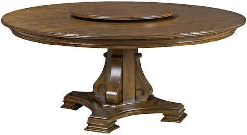 kincaid furniture portolone stellia 72 - Round Dining Table Solid Wood