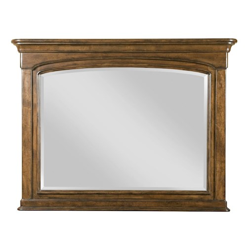 Kincaid Furniture Portolone Traditional Landscape Mirror with Solid Wood Frame