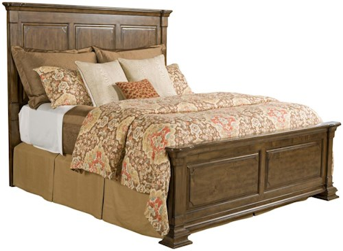 Kincaid Furniture Portolone Queen Monteri Solid Wood Panel Bed