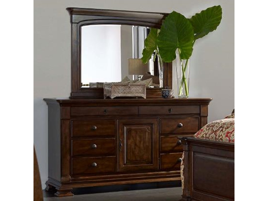 Kincaid Furniture PortoloneBasilica Dresser and Landscape Mirror Set