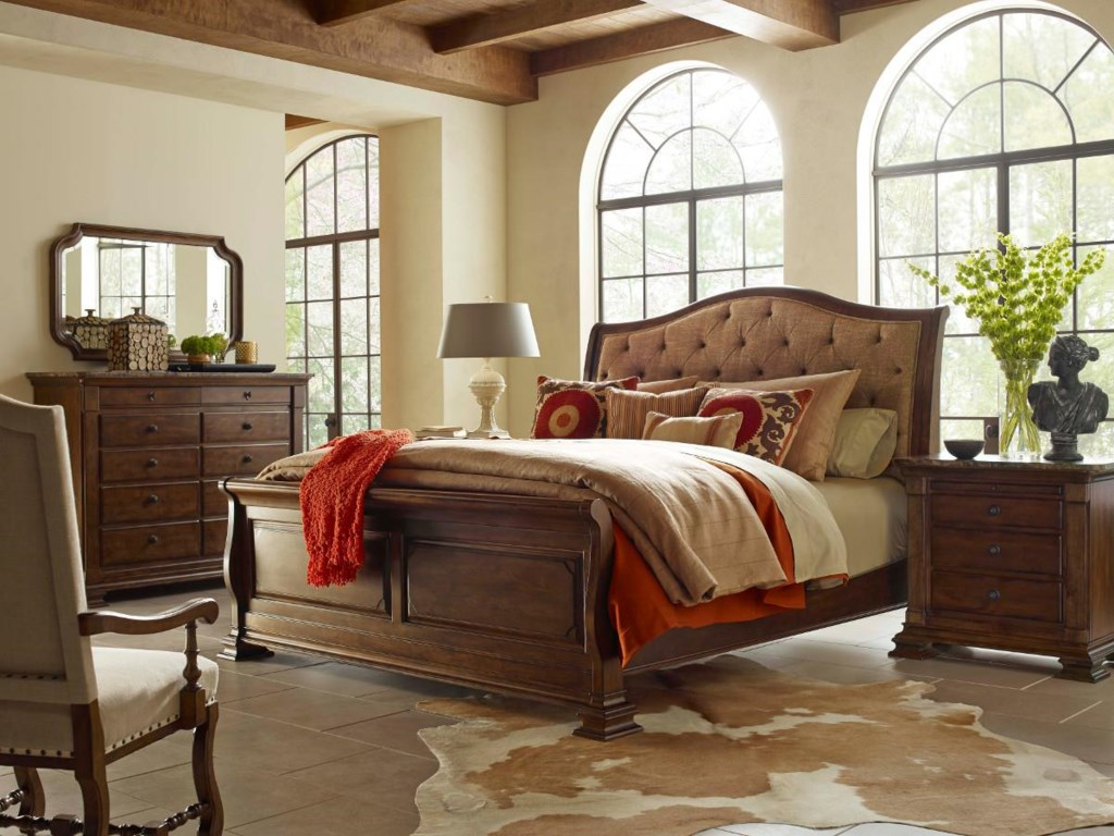 Kincaid Furniture PortolonePortolone Bureau w/ Marble Top