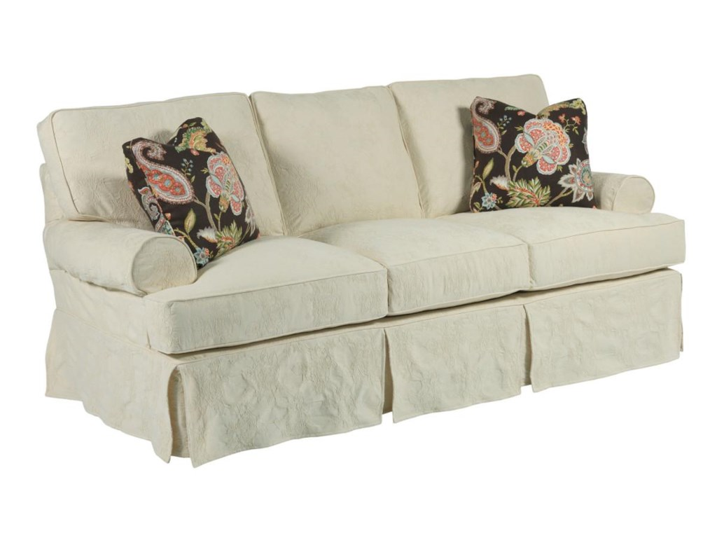 Kincaid Furniture Samantha Three Seat Sofa With Slipcover Tailoring Loose Pillow Back