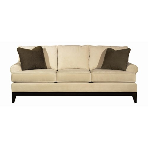 Kincaid furniture sonoma transitional sofa with wood base for Furniture 500 companies