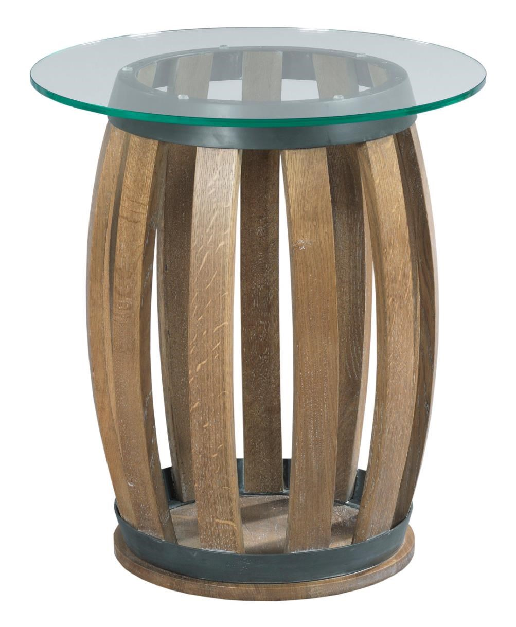 Kincaid Furniture Stone Ridge Rustic Wine Barrel Accent Table With