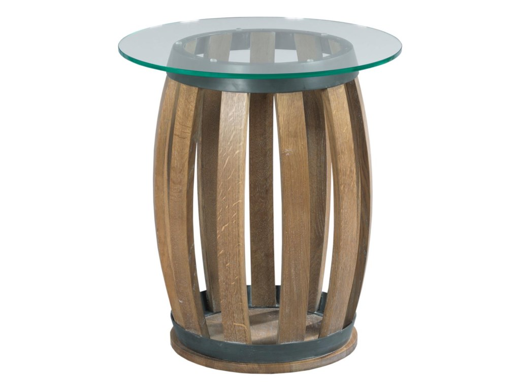 Kincaid Furniture Stone Ridgeround Wine Barrel Accent Table
