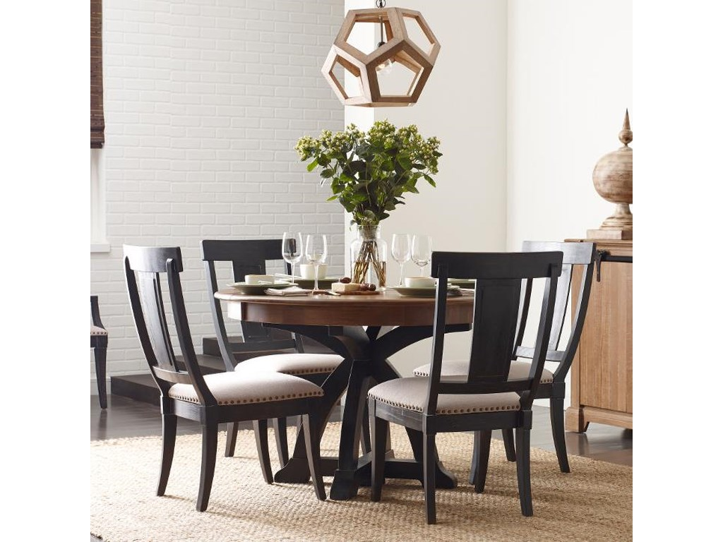 best service 896cb 76074 Stone Ridge Five Piece Dining Set with Black Painted Chairs by Kincaid  Furniture at Wayside Furniture