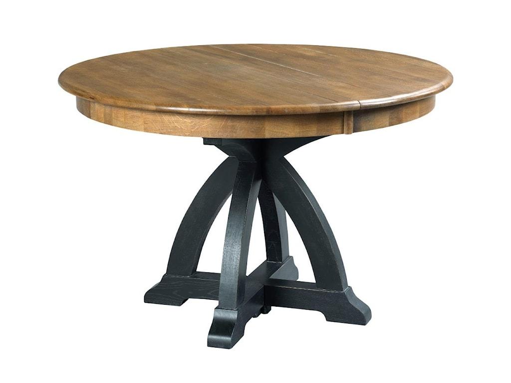 Kincaid Furniture Stone Ridge 72 052p Transitional Rustic Round