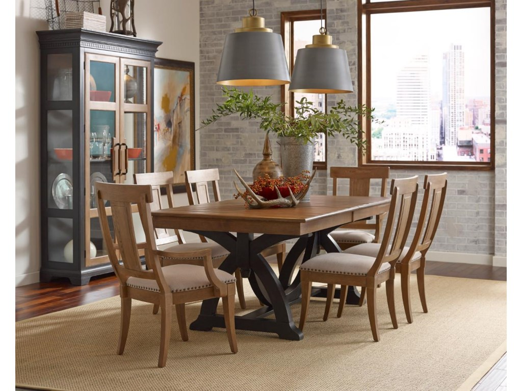 Kincaid Furniture Stone RidgeTrestle Table