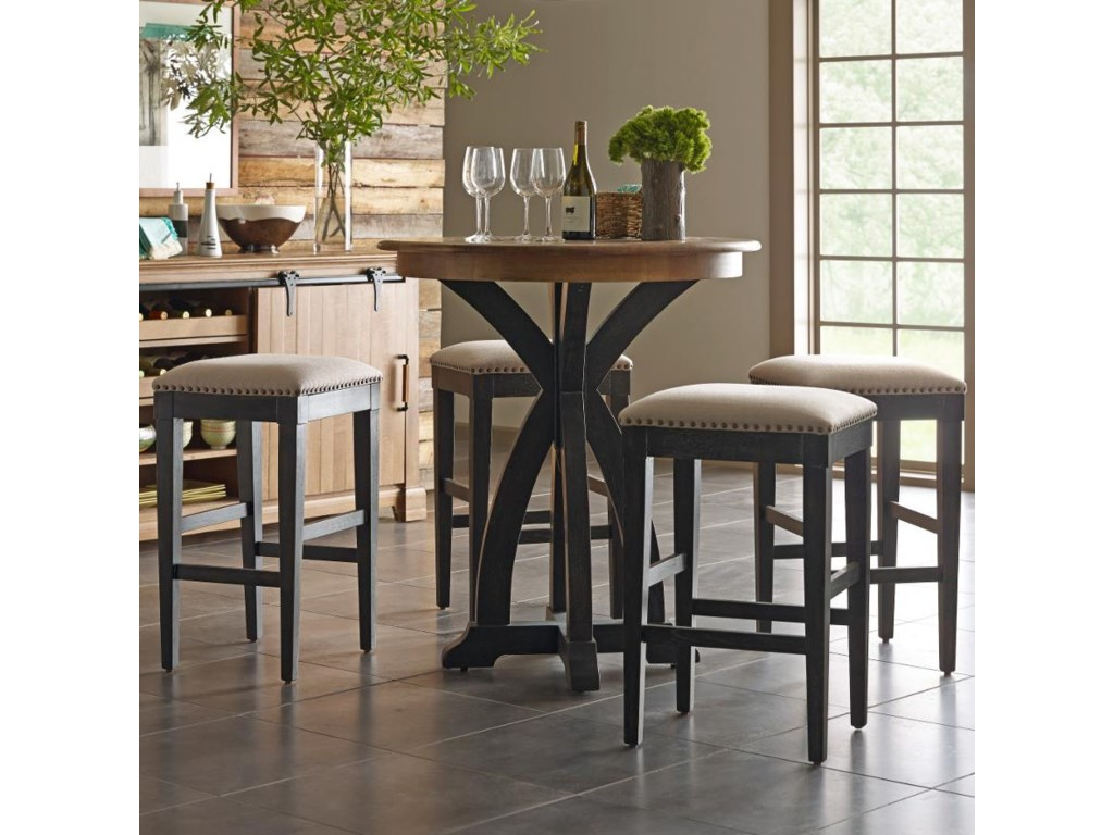 Kincaid Furniture Stone Ridge Transitional Five Piece Rustic Bistro ...