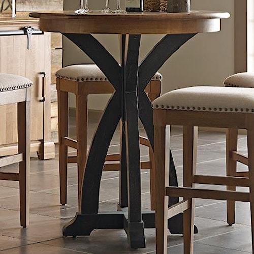 Kincaid Furniture Stone Ridge Transitional Rustic Round Bistro Table