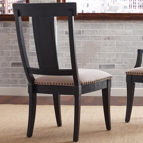 Kincaid Furniture Stone Ridge Transitional Side Chair with Upholstered Seat and Nailhead Trim
