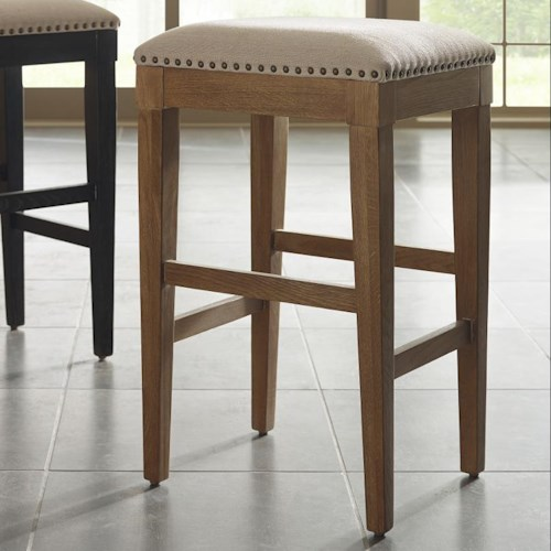 Kincaid Furniture Stone Ridge Transitional Bistro Table Stool with Performance Fabric Upholstery