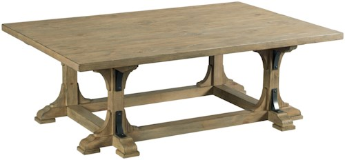 Kincaid Furniture Stone Street Guild Coffee Table  with Metal Accents