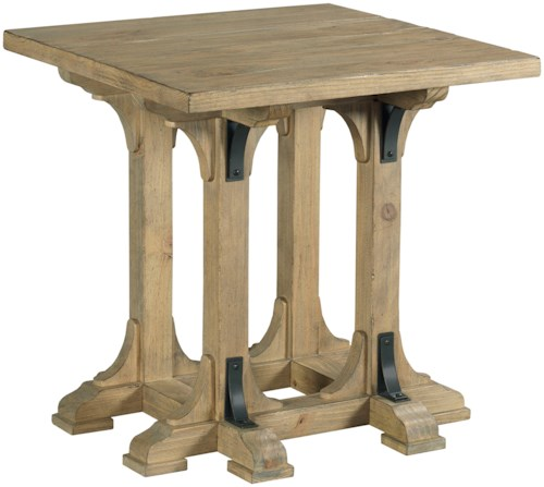 Kincaid Furniture Stone Street Guild Square End Table