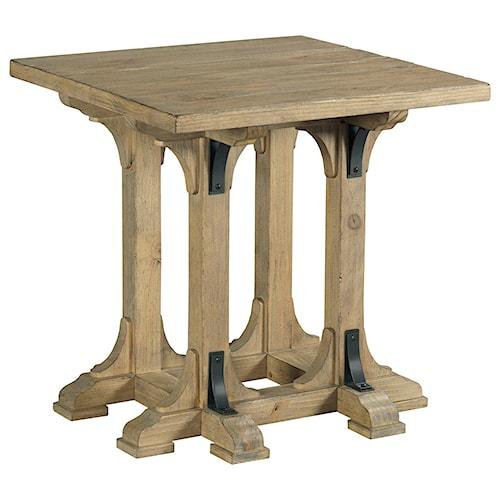 Kincaid Furniture Stone Street Guild Square End Table