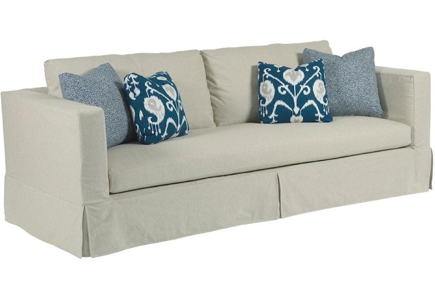 Kincaid Furniture Sydney Modern Slipcover Sofa with Kick ...