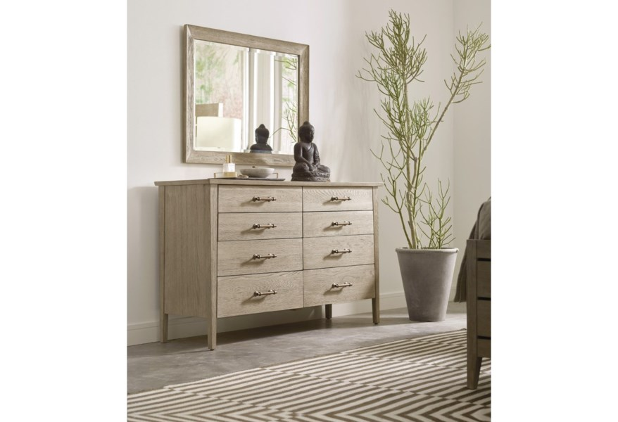 Solid Wood Dresser And Mirror Set