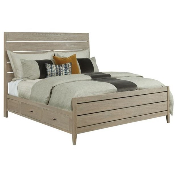 Picture of: Kincaid Furniture Symmetry Contemporary Incline Solid Wood Oak King Platform Bed With Storage Rails Wayside Furniture Platform Beds Low Profile Beds