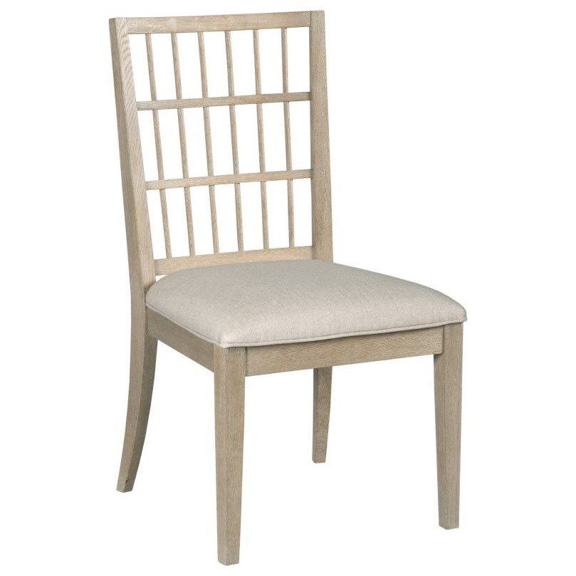 Contemporary Symmetry Solid Wood Upholstered Side Chair