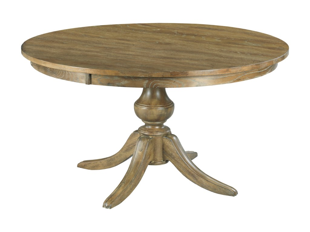 Kincaid Furniture The Nook 54 Round Solid Wood Dining Table With Pedestal Base