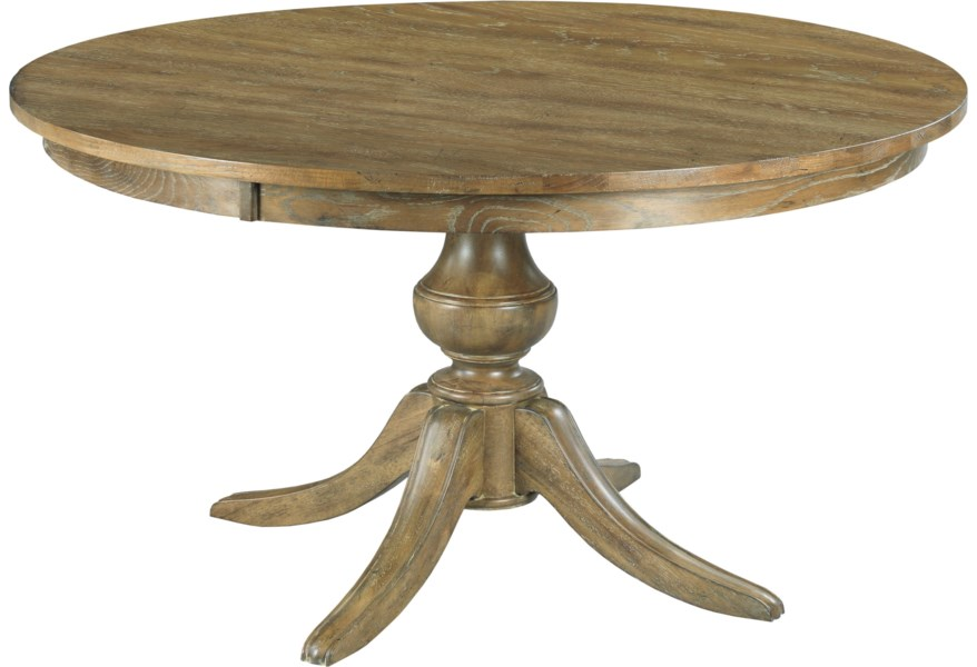 Kincaid Furniture The Nook 54 Round Solid Wood Dining Table With Wood Pedestal Base Belfort Furniture Kitchen Tables