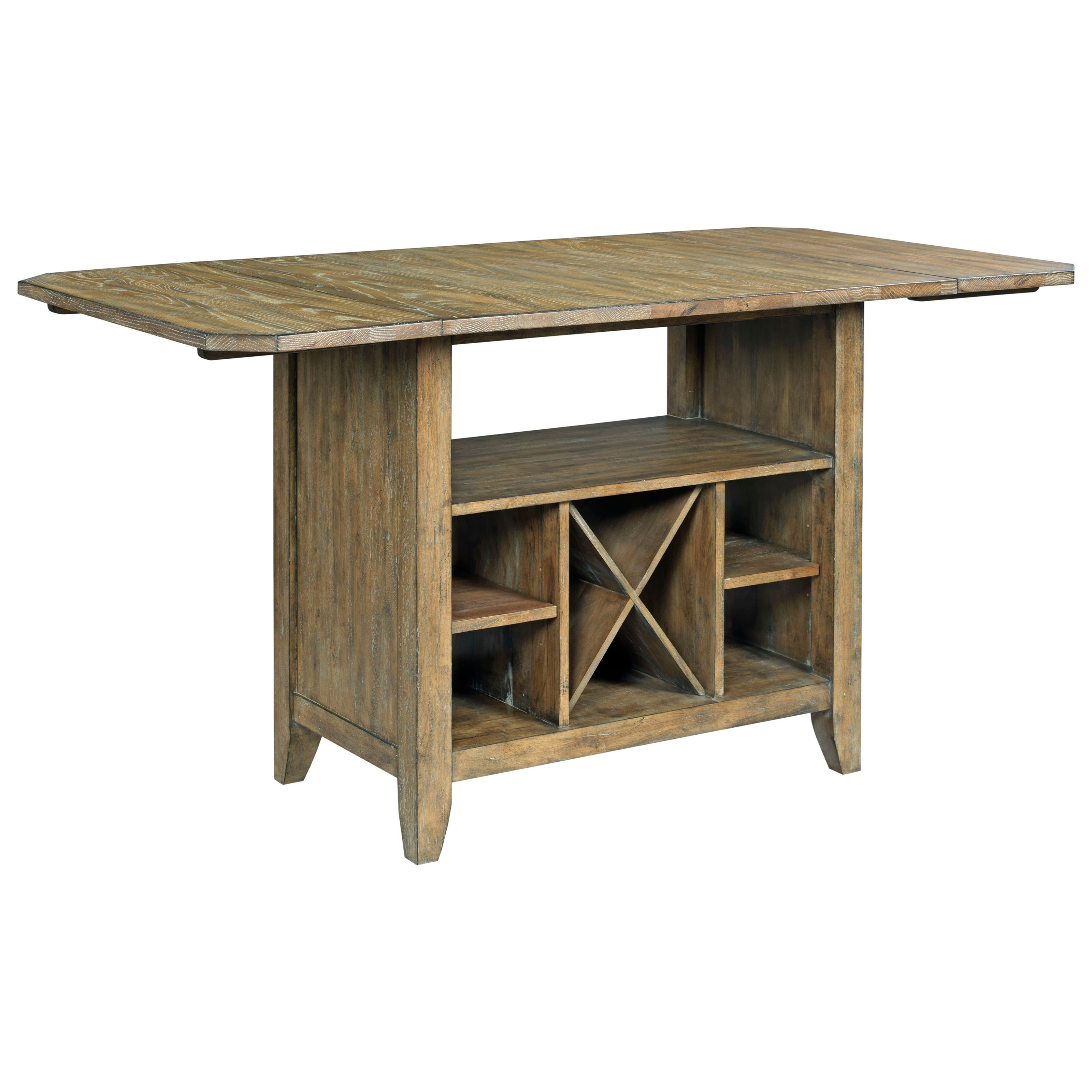 Kitchen island table with storage Do It Yourself Kincaid Furniture The Nook Solid Wood Kitchen Island With Protected Top And Wine Storage Homedit Kincaid Furniture The Nook Solid Wood Kitchen Island With Protected