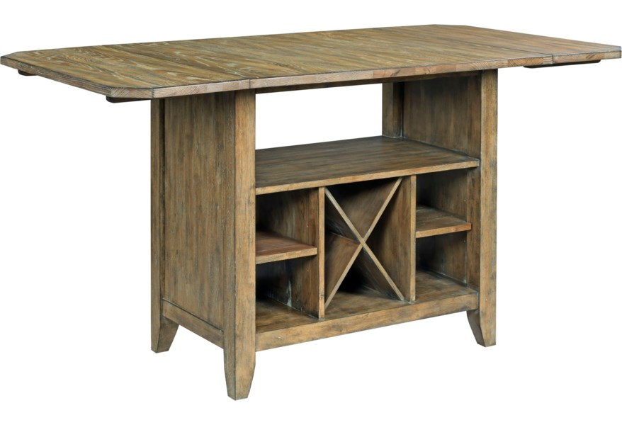 Kincaid Furniture The Nook Solid Wood Kitchen Island With Protected Top And Wine Storage Wayside Furniture Kitchen Islands