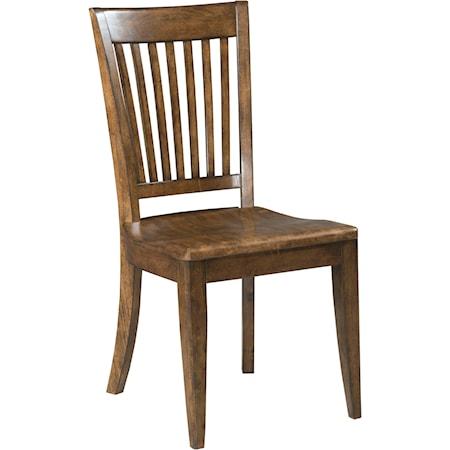 Slat Back Chair w/ Wood Seat