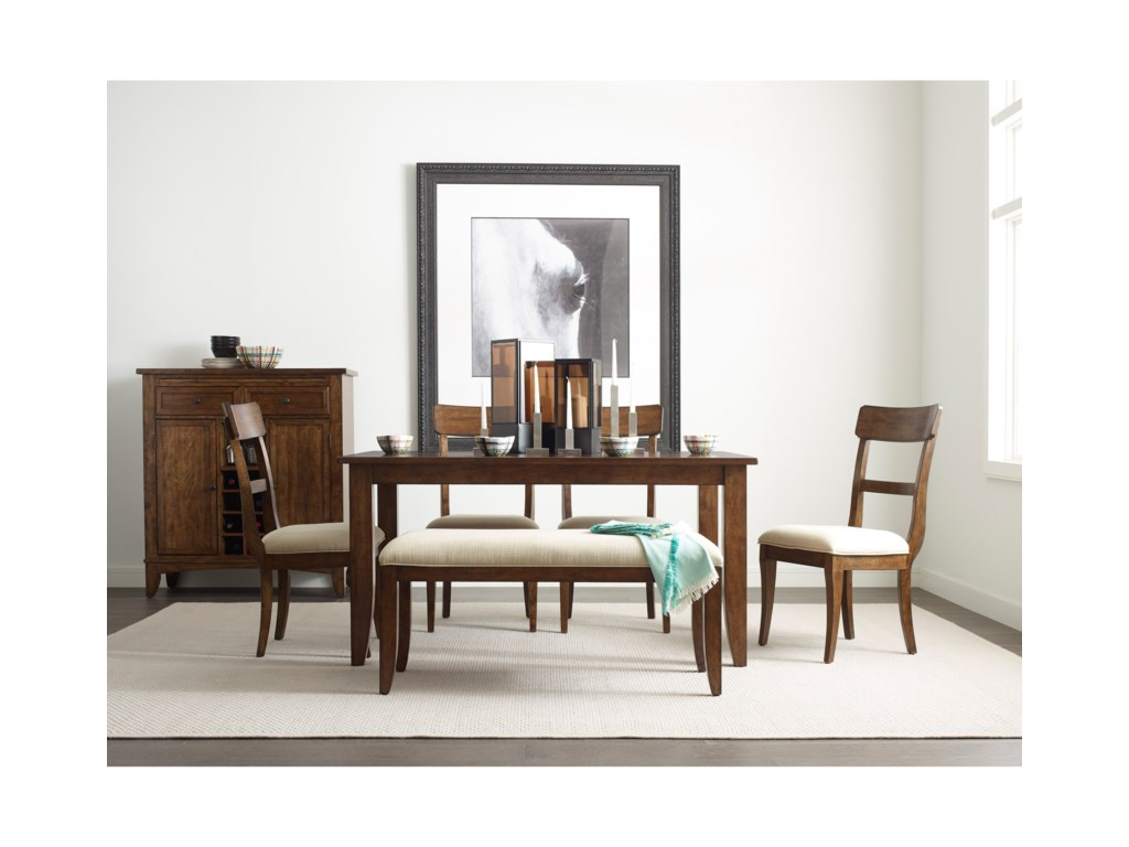 Kincaid Furniture The NookSide Chair w/ Upholstered Seat