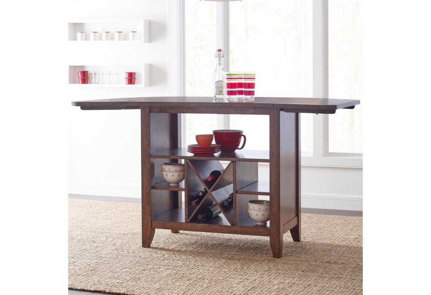 Kincaid Furniture The Nook Solid Wood Kitchen Island with ...
