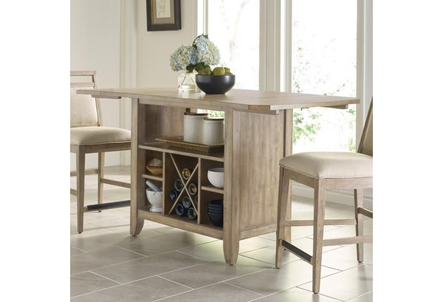 Kincaid Furniture The Nook Solid Wood Kitchen Island With Protected Top And Wine Storage Turk Furniture Kitchen Islands